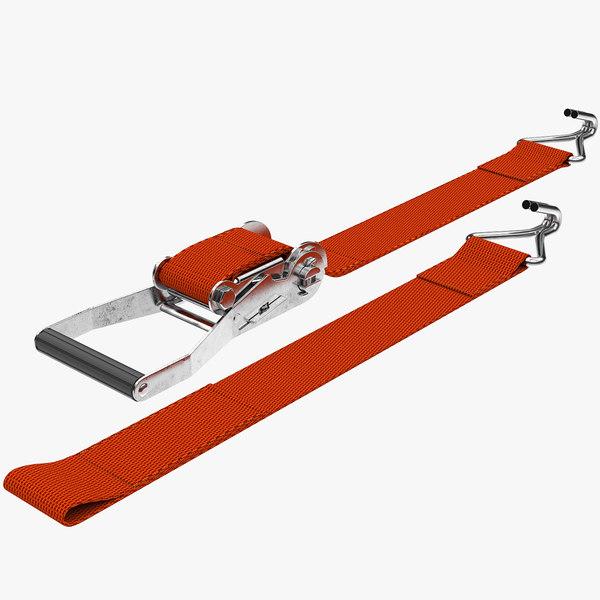 ratchet strap v2 3D model