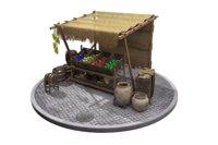 vintage market stall 3D model