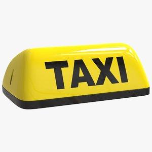 3D taxi sign model