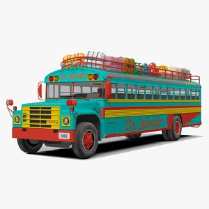 3D chicken bus model