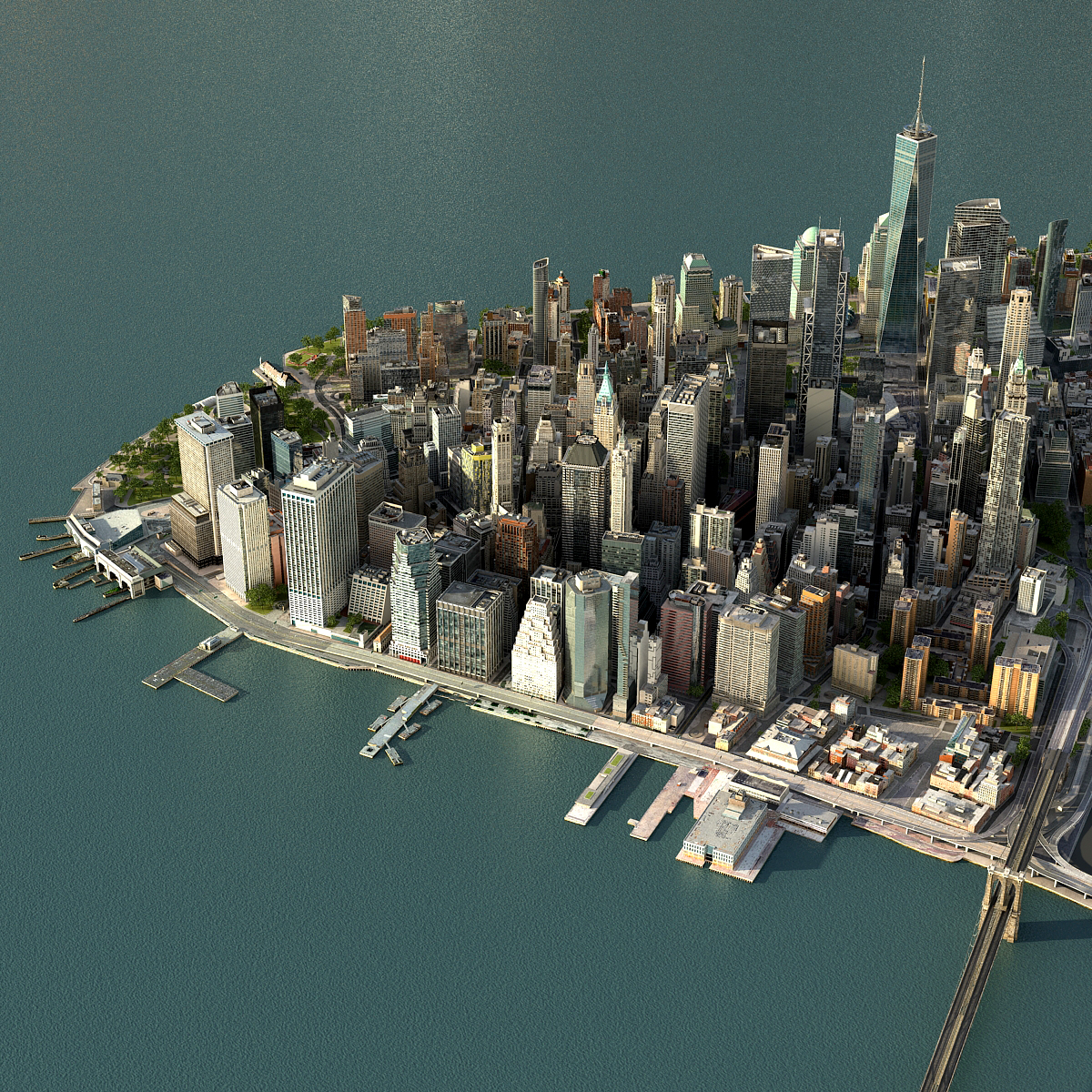 manhattan lower 3D model