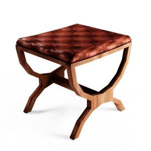 footstool stool 3D model