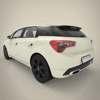 3D hatchback materials model