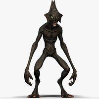 3D character games creature model