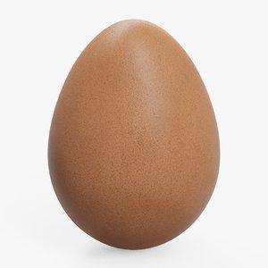 3D model chicken egg