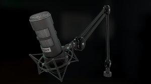 3D model studio mic