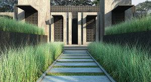 sedge grass 3D