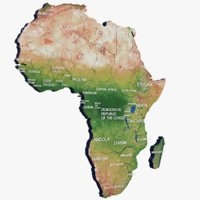 africa modeled pbr 3D