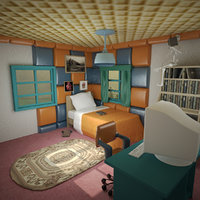 3D model cartoon room