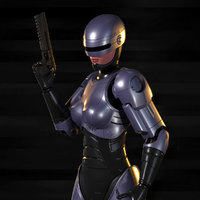 3D model robocop woman
