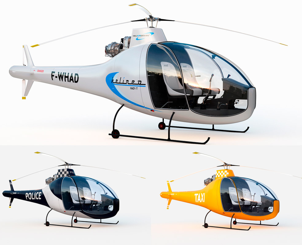 3D helicopter had1-t helineo 3