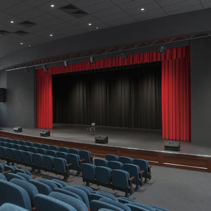 3D model assambly theatre hall