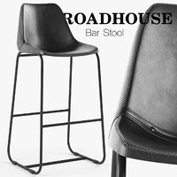 roadhouse bar stool black 3D model