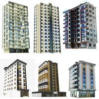 3D modern building 6 1