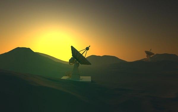 dish antena 3D model