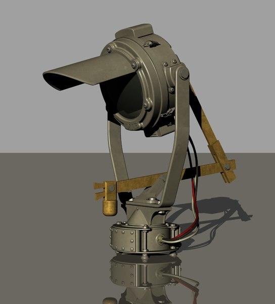 vintage search lamp 3D