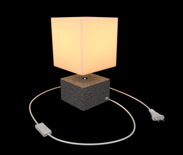 3D table lamp