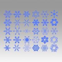 flake snow snowflake 3D