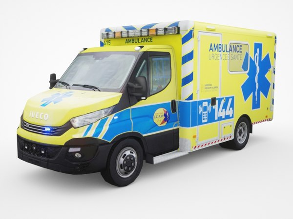 3D model daily ambulance