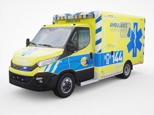 3D model daily ambulance
