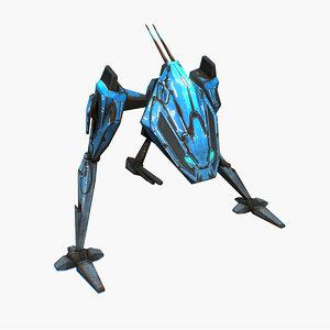 3D model mech walker animation walk