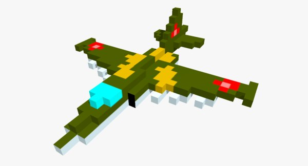 3D pixelated su-25