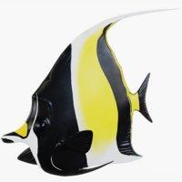 Moorish Idol Fish (Animated)