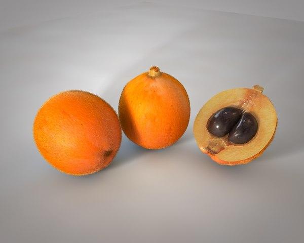 3D model fruit juice