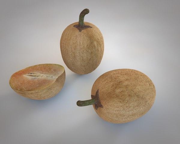 3D cocoa fruit