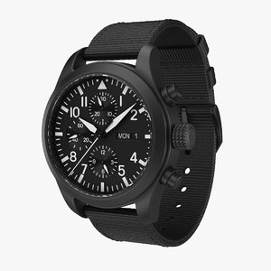 3D military watch
