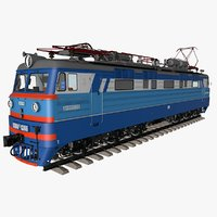 3D model electric locomotive trains