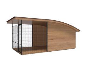 kennel shed dog 3D model