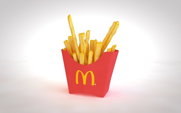 3D fries french model