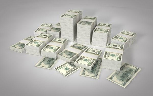 dollars financial money 3D