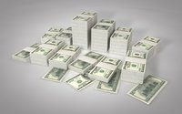 dollars financial money 3D