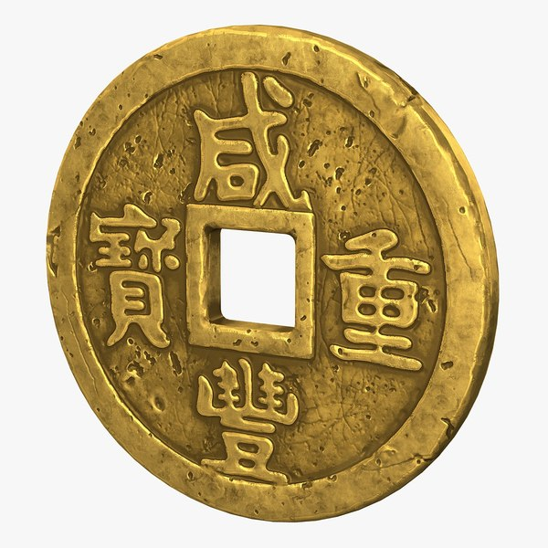 chinese coin 3D model