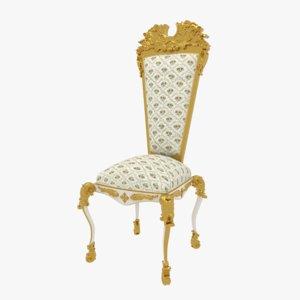 victorian chair 3D