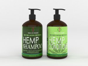 3D model hemp hydrate shampoo conditioner