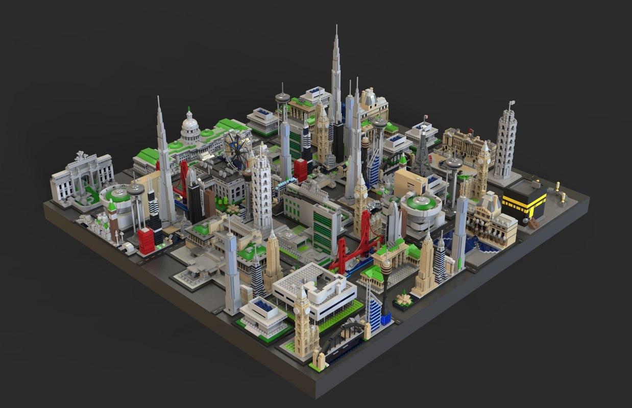 3D city lego model