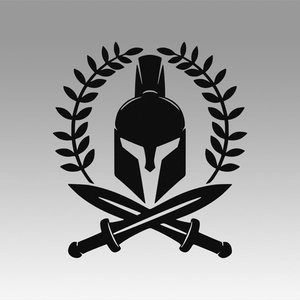 spartan sparta logo 3D model