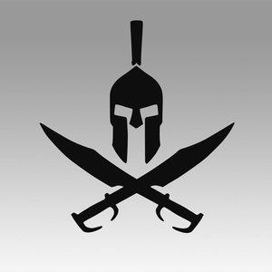 3D spartan sparta logo model