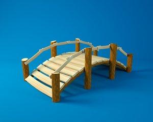cartoon wooden bridge 3D