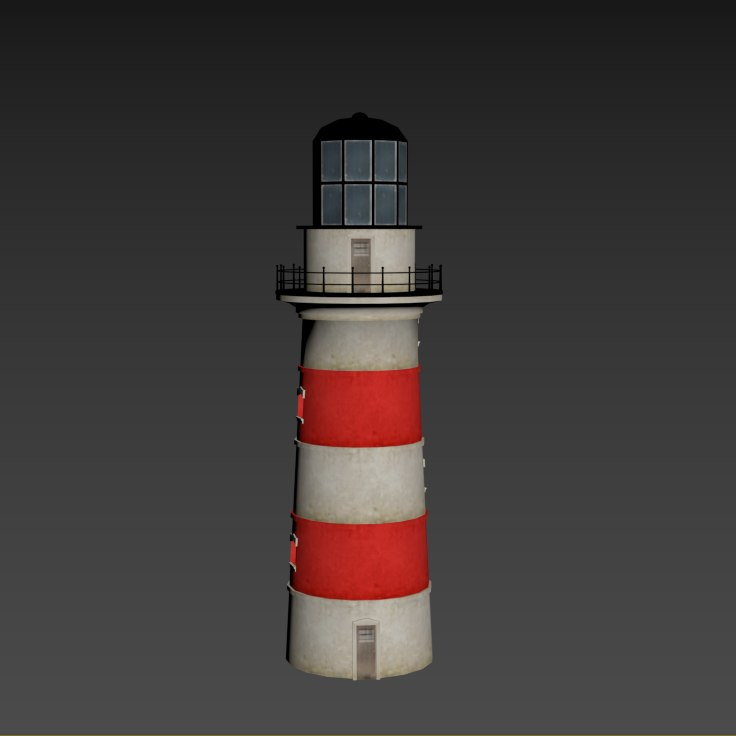 3D lighthouse building