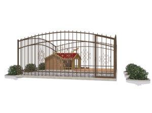 3D model dog kennel