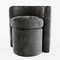 3D eichholtz stool arcadia model