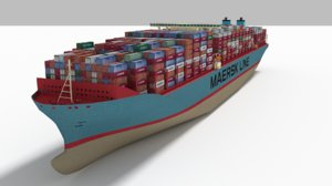3D e maersk container ship