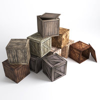 set boxes 10 species 3D model