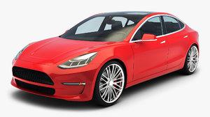 3D generic sedan car v model