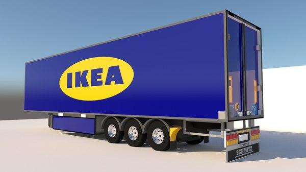 3D trailer ikea model