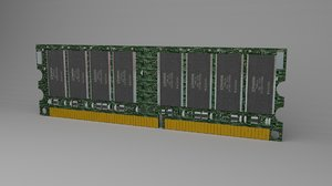 computer ram 3D model